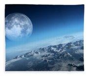 Earth Icy Ocean Aerial View Fleece Blanket