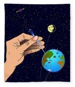 Earth Like An Inflatable Balloon Fleece Blanket