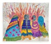Earth Mothers - Feeding  The Fire Fleece Blanket