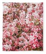 Earth Tones Apple Blossoms  Fleece Blanket