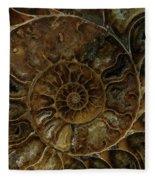 Earth Treasures - Brown Amonite Fleece Blanket