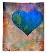 Earthy Heart Fleece Blanket