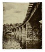 East Falls Rail Road Bridge Fleece Blanket
