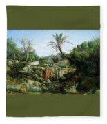 East Landscape Henryk Semiradsky Fleece Blanket