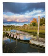 East Moriches Reflections Fleece Blanket