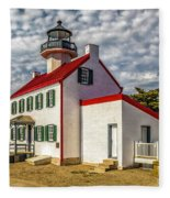 East Point Light -renovated Fleece Blanket