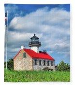 East Point Lighthouse Nj Fleece Blanket