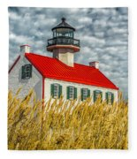 East Point On The Maurice River  Fleece Blanket