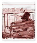 East River Lovers Fleece Blanket