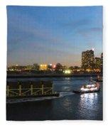 East River Traffic New York Fleece Blanket