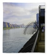 East River View Looking South Fleece Blanket