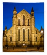 East Side Of Hexham Abbey At Night Fleece Blanket
