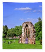 East Window Remains Of Old Church At Ticknall Fleece Blanket