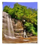 Eastatoe Falls/twin Falls 2 Fleece Blanket
