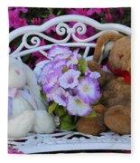 Easter Bunnies Fleece Blanket