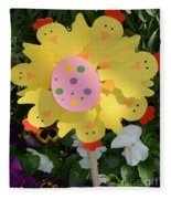Easter Chick Decoration Fleece Blanket