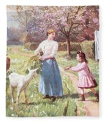 Easter Eggs In The Country Fleece Blanket
