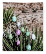 Easter Eggs On The Tree Fleece Blanket