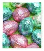 Easter Eggs Viii Fleece Blanket
