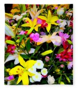 Easter Flowers Fleece Blanket