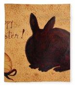 Easter Golden Egg And Chocolate Bunny Fleece Blanket