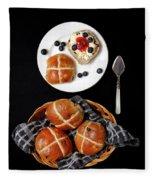 Easter Hot Cross Buns  Fleece Blanket