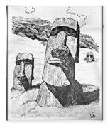 Easter Island Fleece Blanket