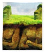Easter Island Truth Fleece Blanket