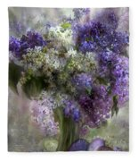 Easter Lilacs Fleece Blanket