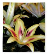 Easter Lilies Fleece Blanket