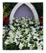 Easter Lillies Fleece Blanket