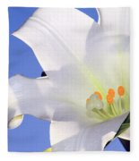 Easter Lily Back Lit By The Sun  Fleece Blanket
