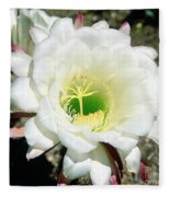 Easter Lily Cactus Flower Fleece Blanket