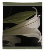 Easter Lily Card Fleece Blanket
