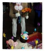 Easter Parade Visit Fleece Blanket
