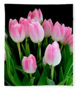 Easter Tulips  Fleece Blanket