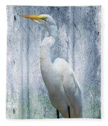 Eastern Great Egret Ardea Alba Modesta Fleece Blanket