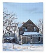 Eastern Montana Farmhouse Fleece Blanket