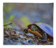 Eastern Painted Turtle Chrysemys Picta Fleece Blanket