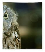 Eastern Screech Owl-6950 Fleece Blanket