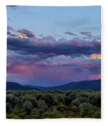 Eastern Sky At Sunset - Taos New Mexico Fleece Blanket