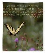 Eastern Tiger Swallowtail Butterfly - The Beauty Of The Wild Fleece Blanket