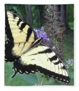 Eastern Tiger Swallowtail Sipping Nectar Fleece Blanket