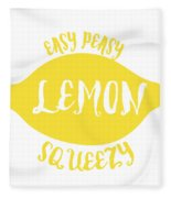 Easy Peazy Lemon Squeezy Fleece Blanket