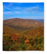 Eaton Hollow Overlook On Skyline Drive In Shenandoah National Park Fleece Blanket