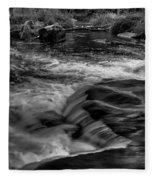 Eau Claire Dells Black And White Flow Fleece Blanket