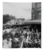 Ebbets Field Crowd 1920 Fleece Blanket