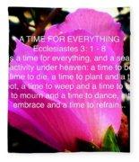 Ecclesiastes 3 A Time For Everything Fleece Blanket