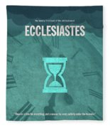 Ecclesiastes Books Of The Bible Series Old Testament Minimal Poster Art Number 21 Fleece Blanket