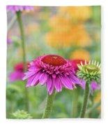 Echinacea Catharina Red  Fleece Blanket